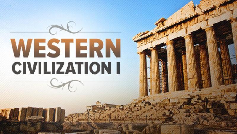 A poster written WESTERN CIVILIZATION