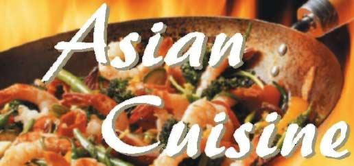 A poster Written Asian Cuisine