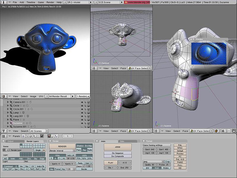 A screenshot of a computer graphics program
