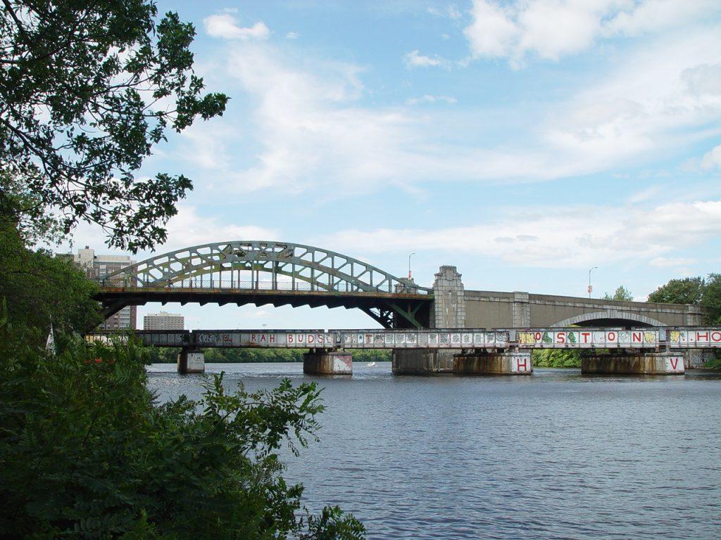 overlooking Charles River by BU Bridge