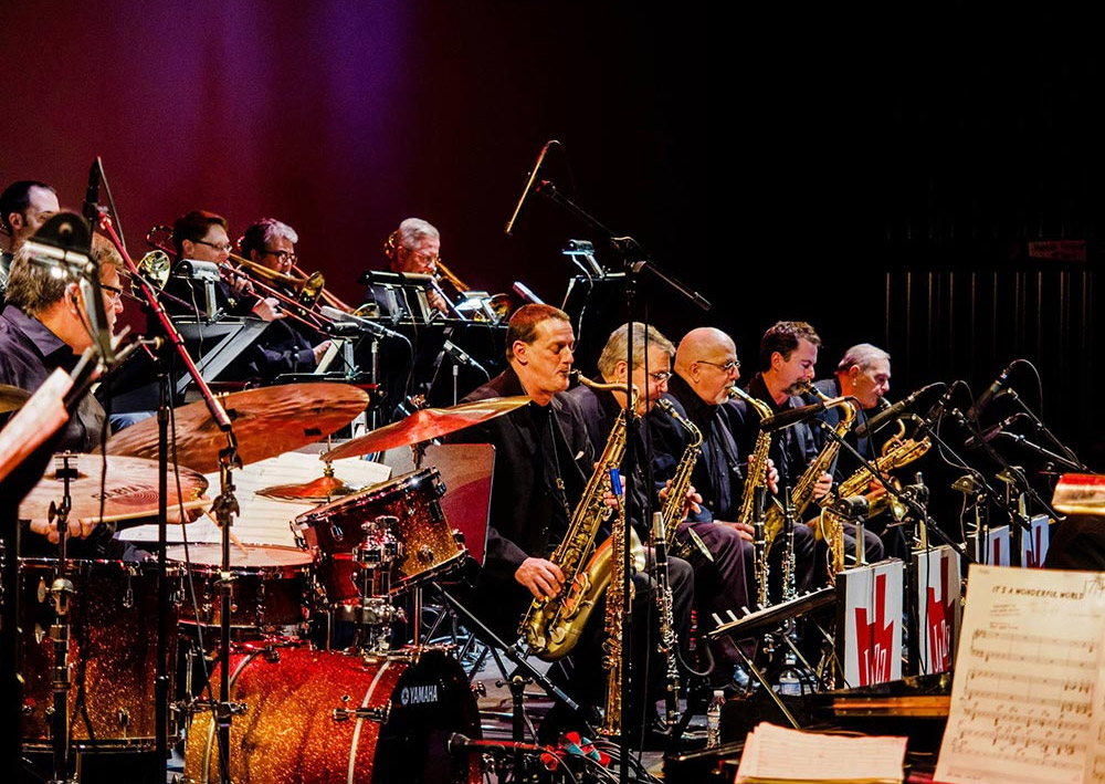 A jazz orchestra performing
