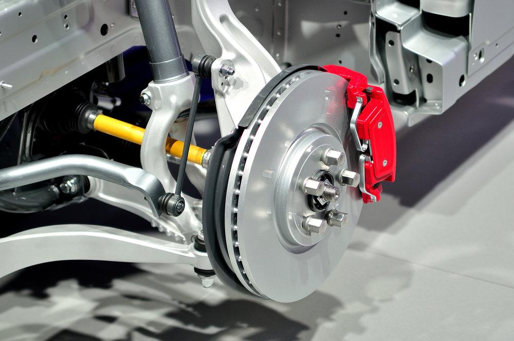 An image of a car's brake disc
