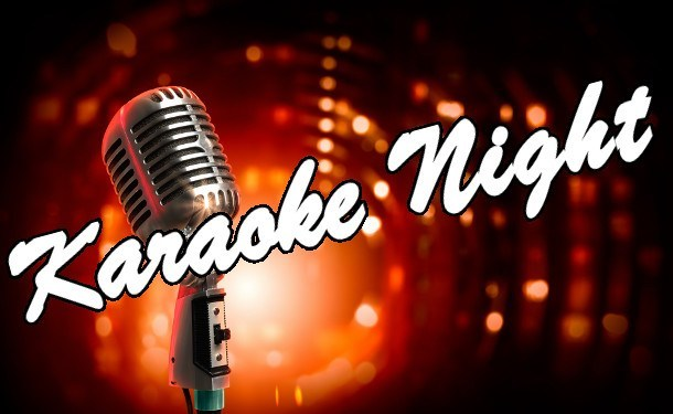 picture of a microphone with karaoke night