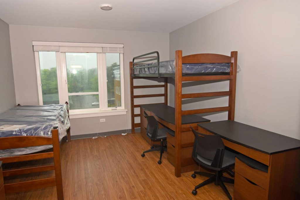 interior dorm room