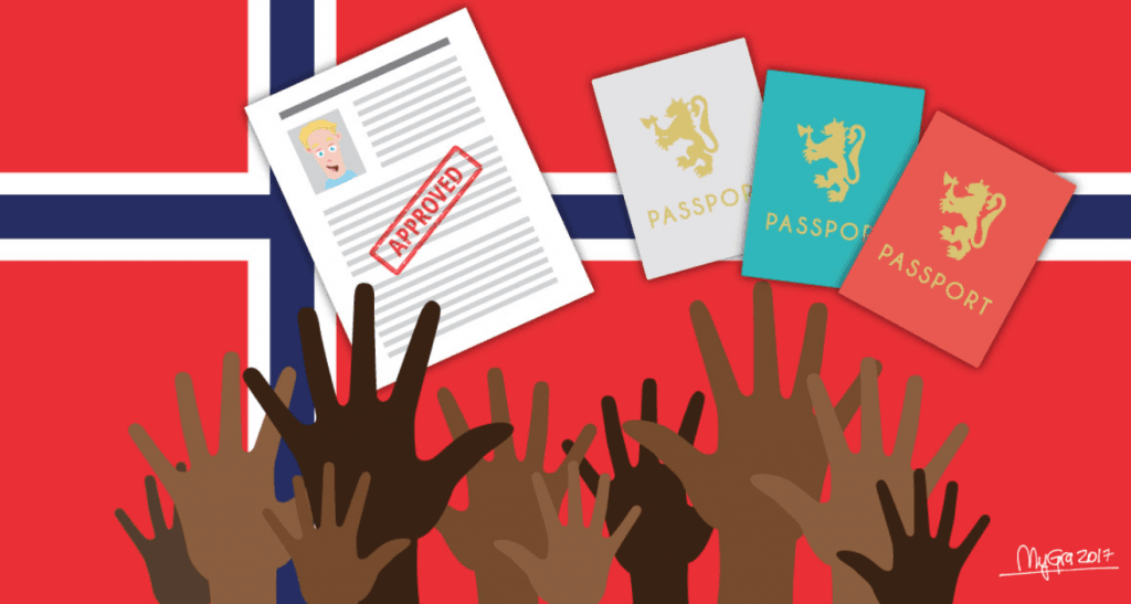 different passports and hands raising their hands