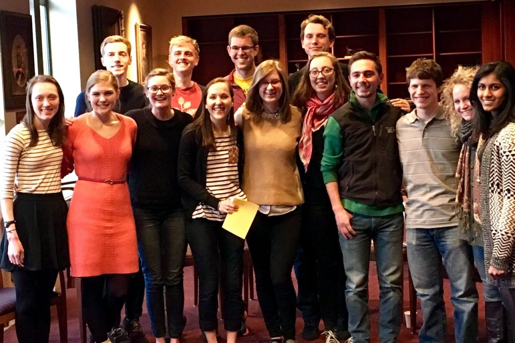 picture of students in the Theta alpha kappa honor society