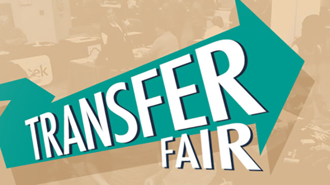 picture of a graphic that says transfer fair.