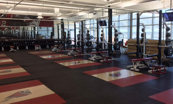 interior picture of gym at ball state