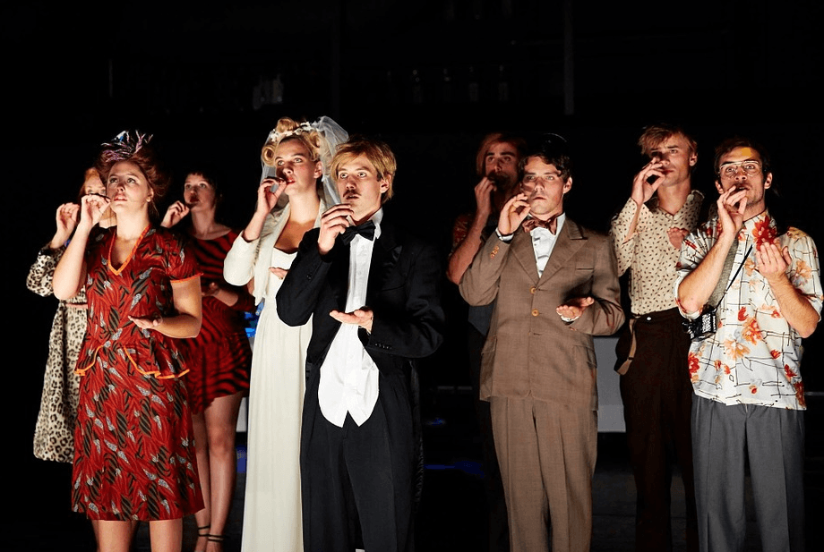 actors and actresses in a play
