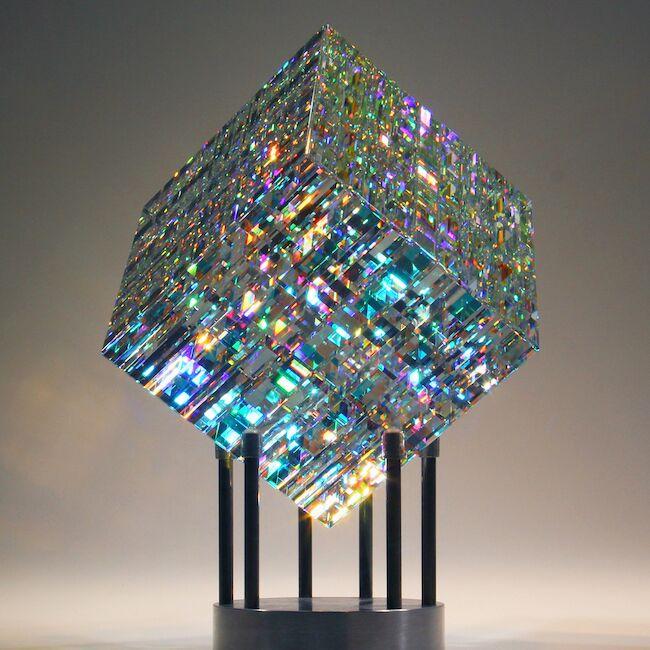 art glass cube design