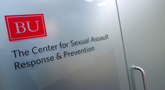picture of the door sign for the Center for Sexual Assault Response and Prevention