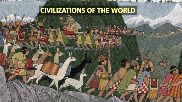 A poster written CIVILIZATIONS OF THE WORLD