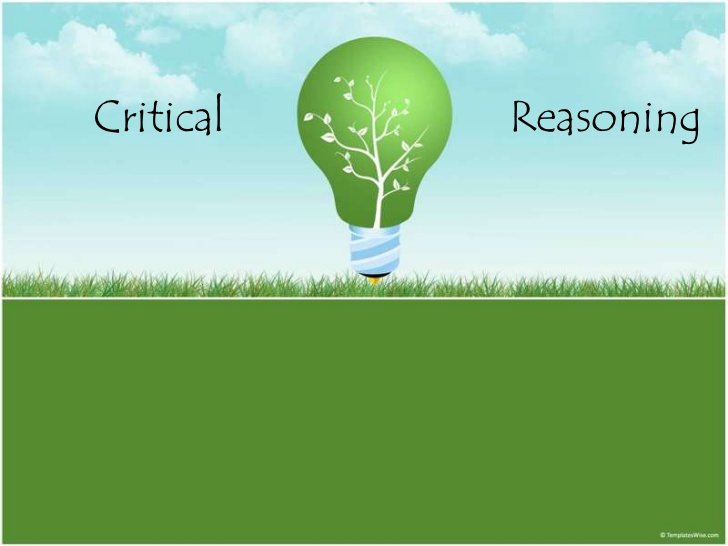 A poster written Critical Reasoning