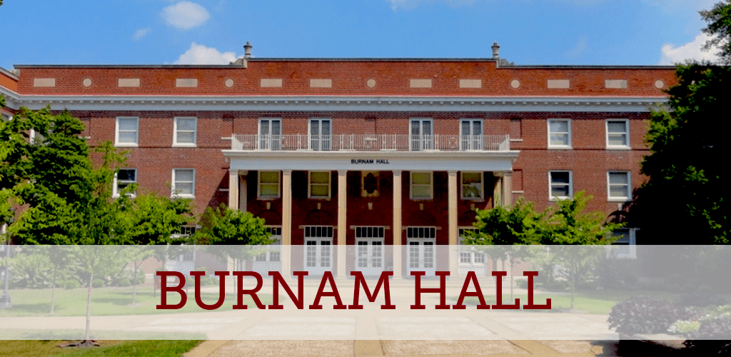Burnam Hall is located near the historic Ravine