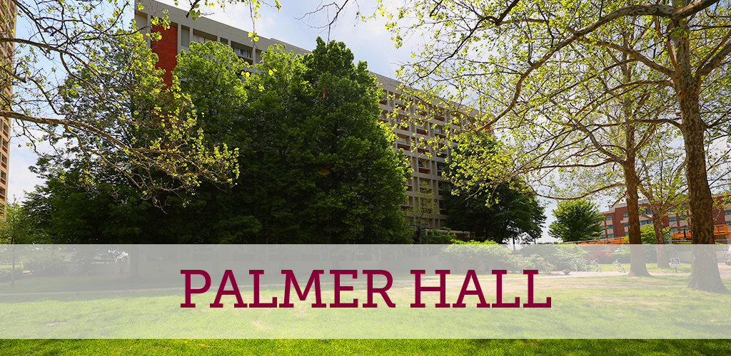 Palmer Hall is close to the Weaver Gymnasium and student center
