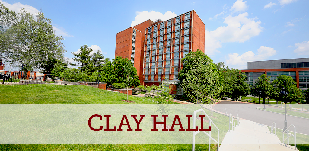 Clay Hall is the closest to the Student Health Services