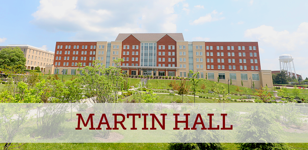 Martin Hall offer quicker access to academic buildings and dining facilities
