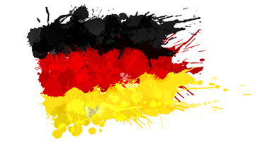 A computer-generated image of the Germany flag