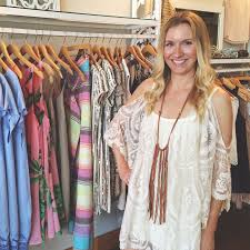 picture of a girl in a store with southern fashion