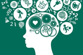 The brain working as a machine to create bubbles of human thoughts and activities