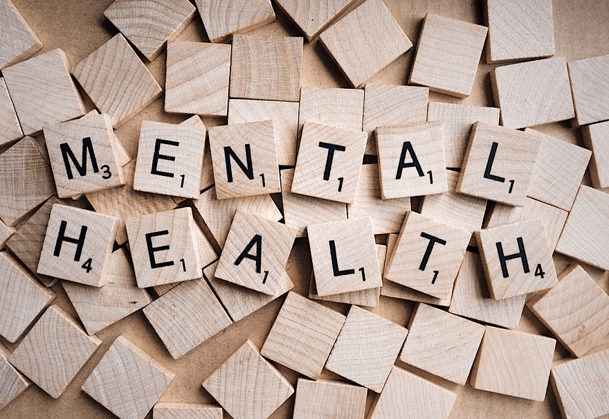 mental health spelled out with scrabble pieces