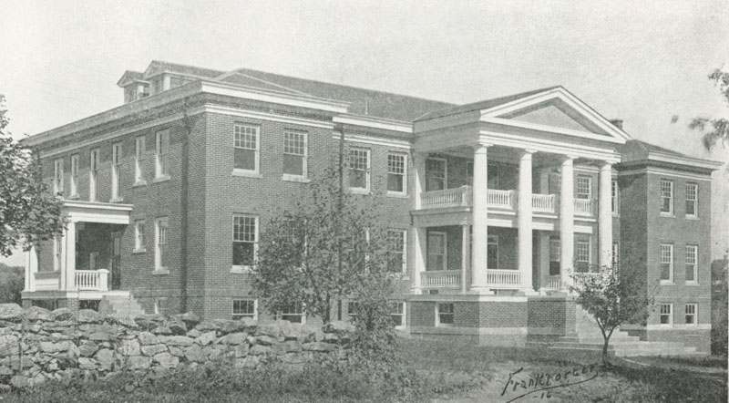 black and white picture of miller hall