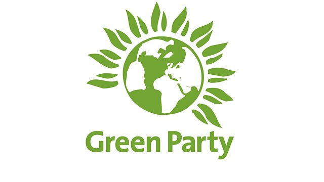 the logo for green party with green earth