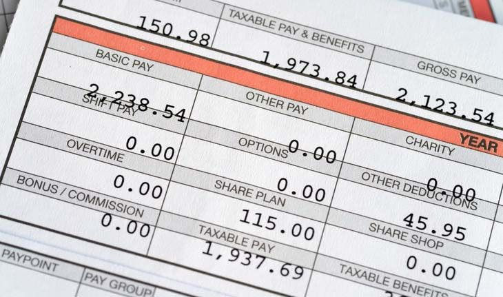 an example of a pay stub