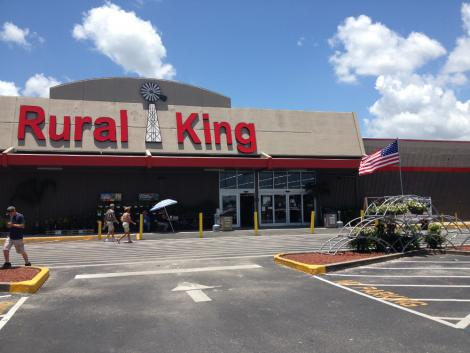 pictured exterior of rural king