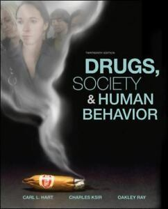 A textbook cover of Drugs, Society & Behavior book