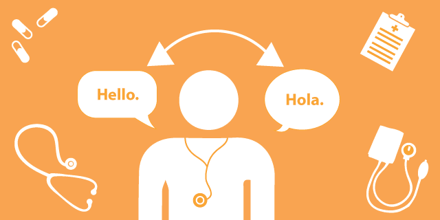 a medical professional speaking in spanish