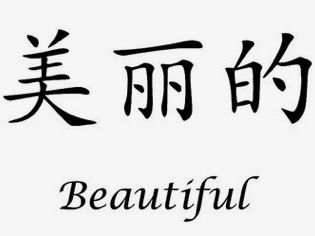 Chinese characters that translate to Beautiful in English