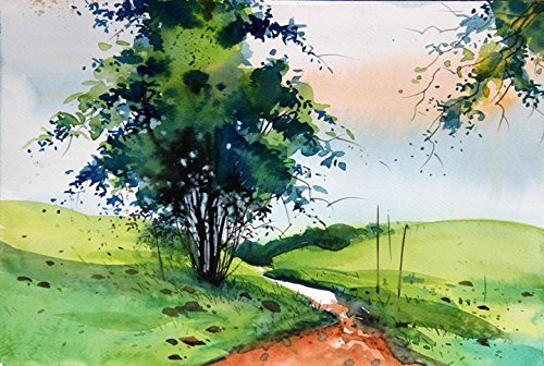 A painting made from watercolor