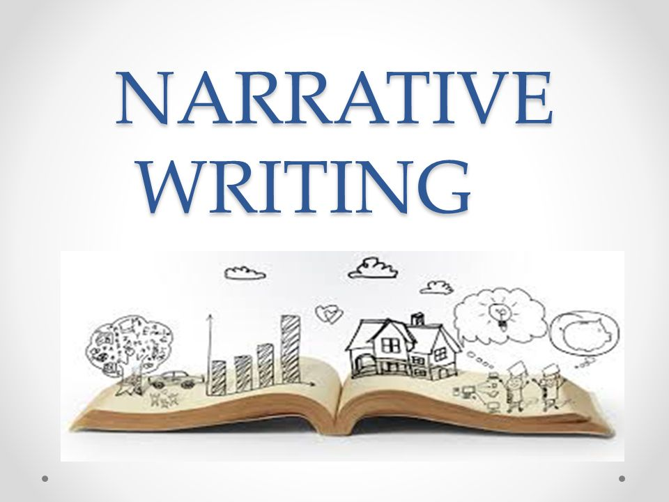 A poster written NARRATIVE WRITING