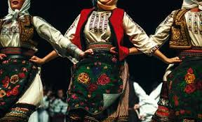 balkan folklore being performed on stage