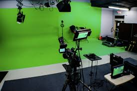 the set to for a tv and green screen