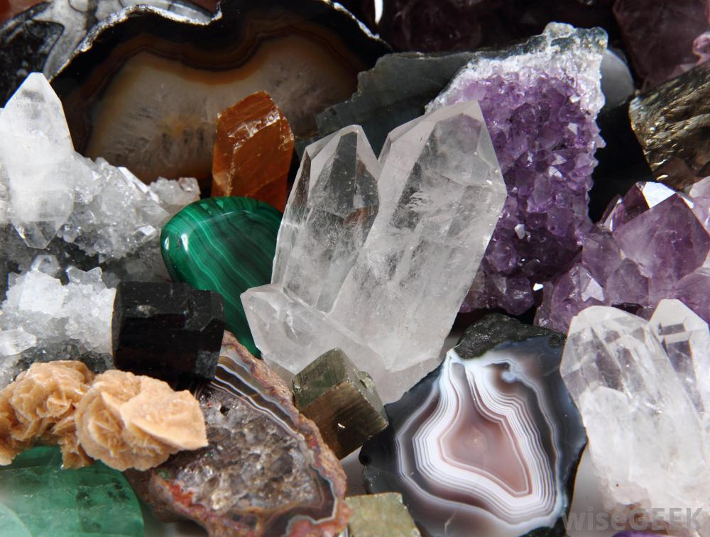 A pile of different kinds of minerals in all shapes, sizes, and colors.