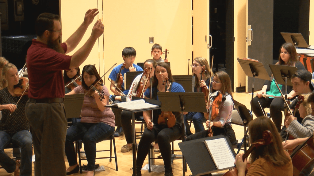 Mercyhurst Civic Orchestra from the college's chamber orchestra.