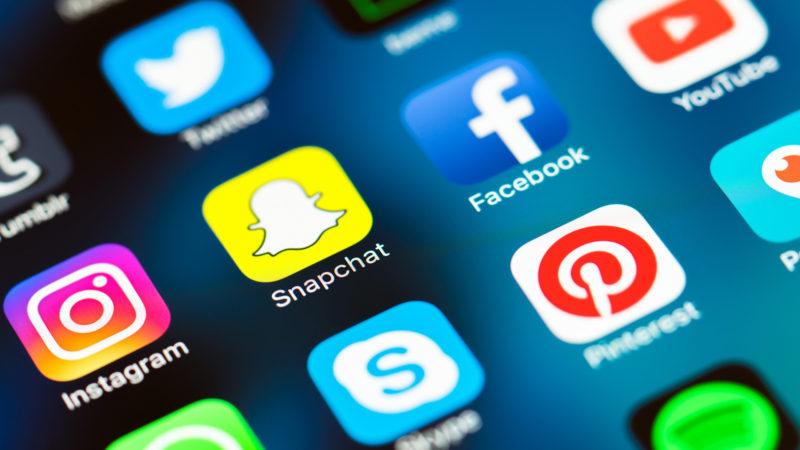 Icons of various social media platforms