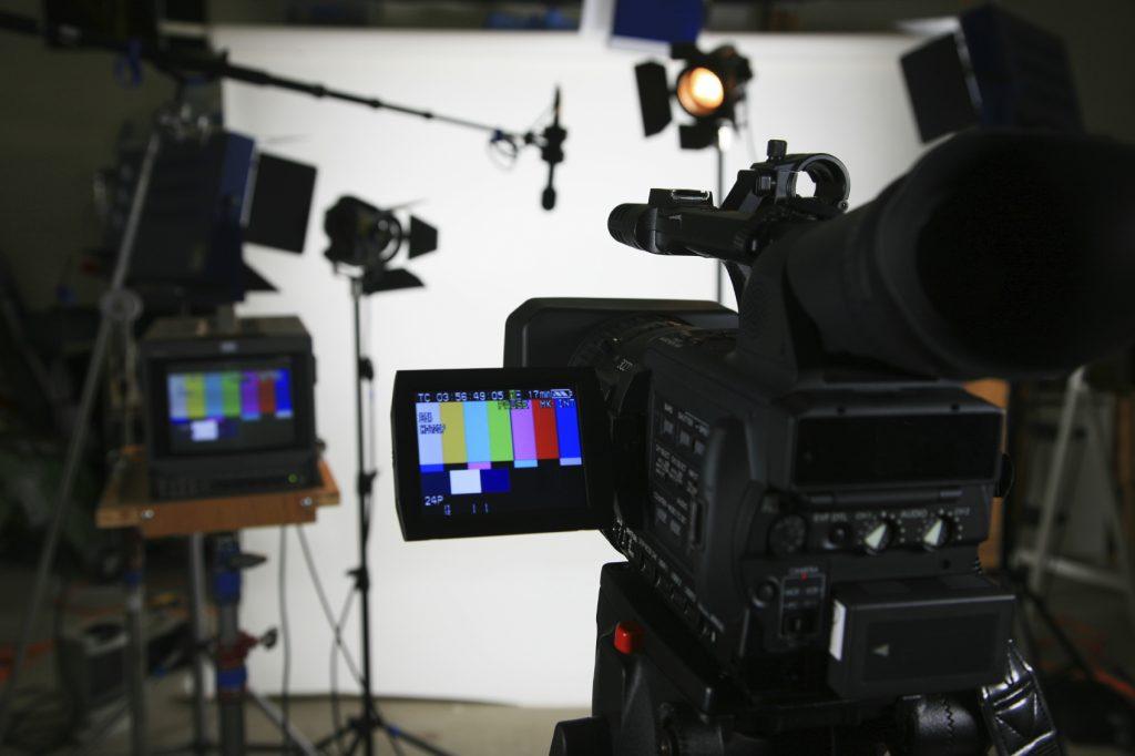 A digital camera on set