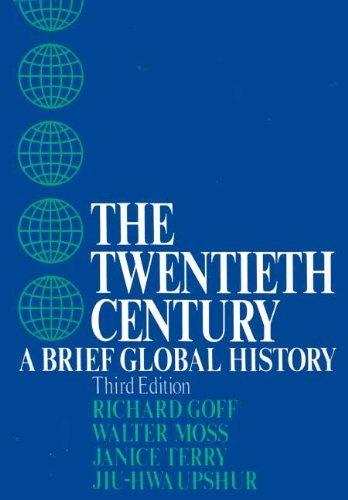A textbook cover for The TWENTIETH CENTURY GLOBAL HISTORY