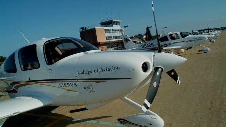 A sample aircraft at Western Michigan University.