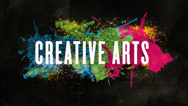 A poster written CREATIVE ARTS