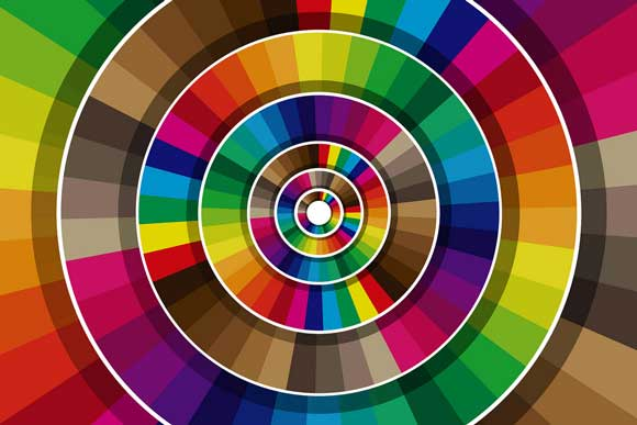 A color wheel with different colors