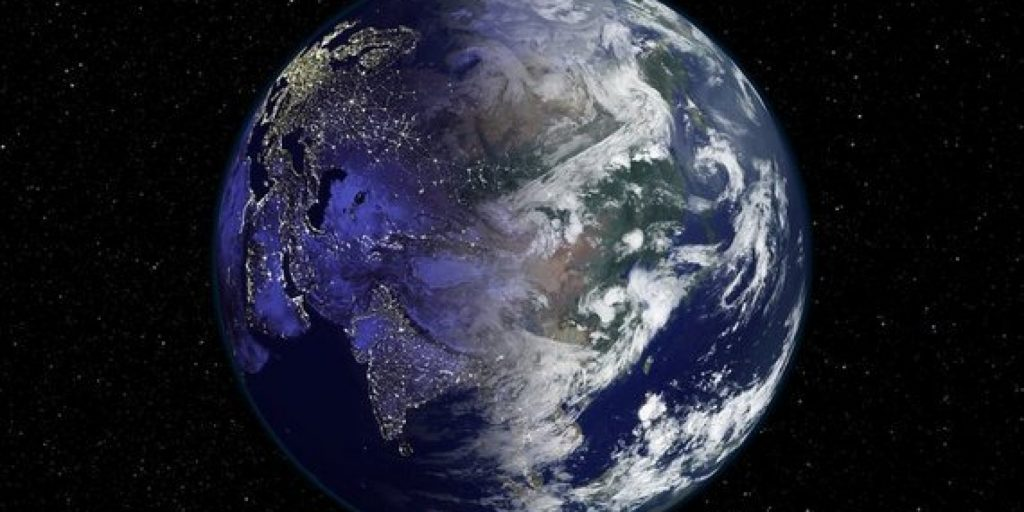 A view of the planet Earth from outer space.