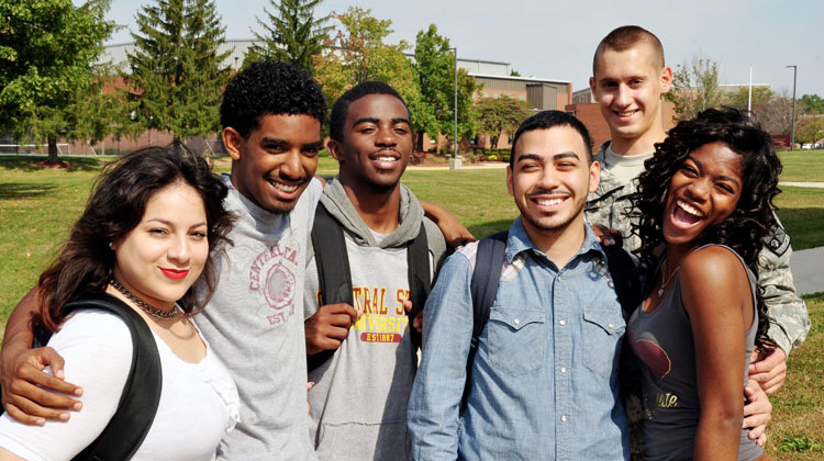 Students from Central State University in a group picture