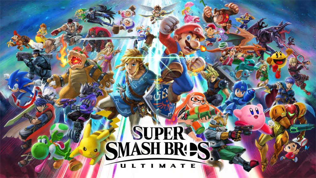 "cover for the game ""Super Smash Bros Ultimate"""