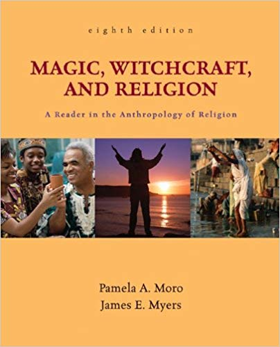 A textbook cover for MAGIC, WITCHCRAFT, AND RELIGION