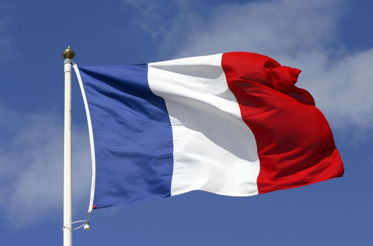 The French flag on a mast