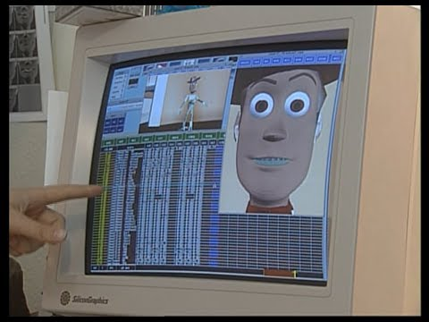 "Someone animating the character Woody from ""Toy Story"""